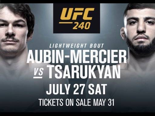 Olivier Aubin-Mercier Vs Arman Tsarukyan Odds and Betting Prediction